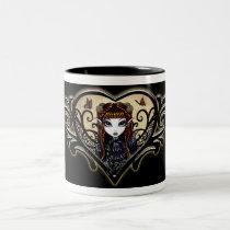 myka, jelina, gothic, fantasy, patience, fairy, fairies, faery, faerie, goth, fae, dark, art, Mug with custom graphic design