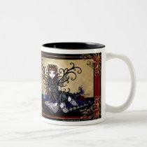 myka jelina, patience, hot, topic, fairy, gothic, fantasy, tales, art, Mug with custom graphic design