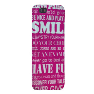 Patience fair smile try joke example fun talent case for iPhone SE/5/5s