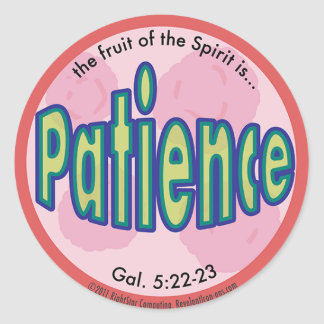 Patience Fruit of the Spirit Spots Sticker