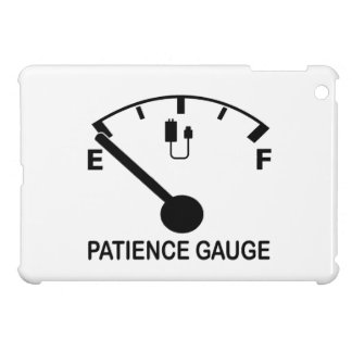 Patience Gauge Empty funny graphic slogan iPad Mini Cover
