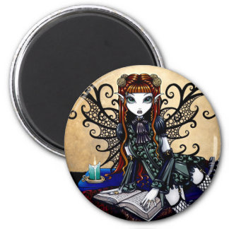 Patience Gothic Reading Fairy Magnet