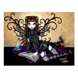 """Patience"" Gothic Victorian Fairy Art Postcard"