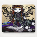 """""""Patience"""" Gothic Victorian Fairy Mousepad"""