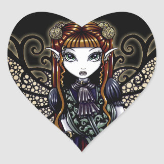 """""""Patience"""" Gothic Victorian Fairy Stickers"""