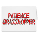 PATIENCE GRASSHOPPER CARD