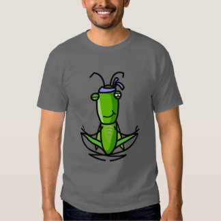 Patience, grasshopper Meditating Dark T T Shirt