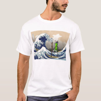 Patience Grasshopper on a boat T-Shirt