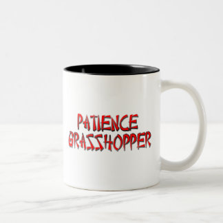 PATIENCE GRASSHOPPER Two-Tone COFFEE MUG