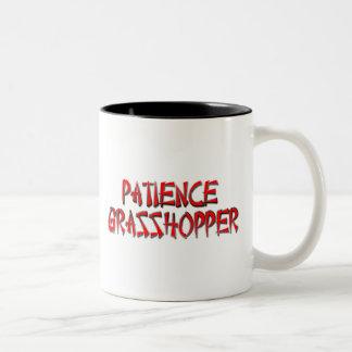 PATIENCE GRASSHOPPER Two-Tone COFFEE MUG