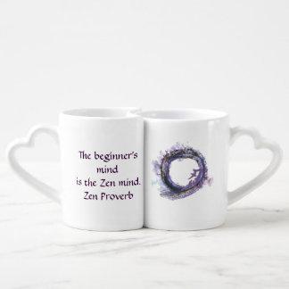 Patience in Purple Enso Lovers Mugs
