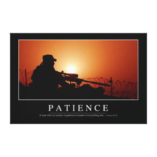 Patience: Inspirational Quote Canvas Print