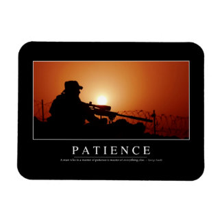 Patience: Inspirational Quote Flexible Magnet