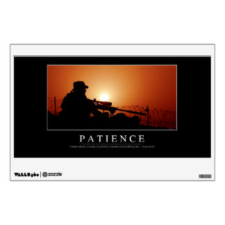 Patience: Inspirational Quote Room Decal