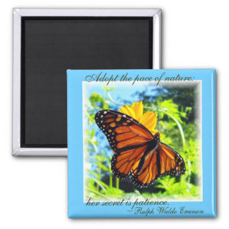 Patience is a virtue Monarch Magnet