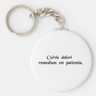 Patience is the cure for all suffering key chains