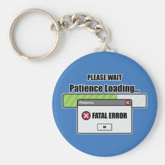 Patience Loading Keychain