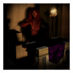 Patience Lucifer Fantasy Goth Art Poster