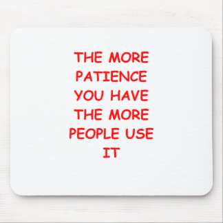 patience mouse pad