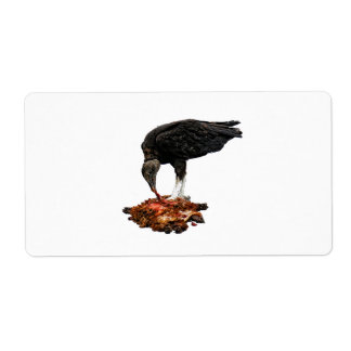 Patience Pays... Scavenger Eating Road Kill! Custom Shipping Label