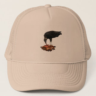 Patience Pays... Scavenger Eating Road Kill! Trucker Hat