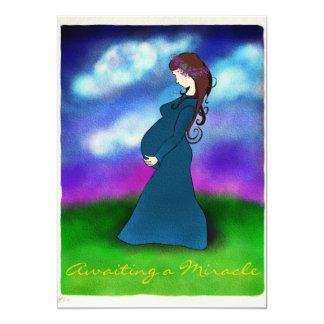 """Patience"" Pregnancy Announcement Card 5"" X 7"" Invitation Card"