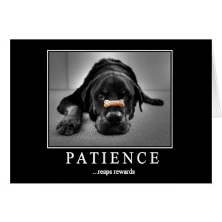 """Patience Reaps Rewards"" Greeting Card"