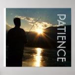 Patience Sunset  Fisherman  Silhouette Print
