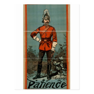 Patience, 'The Colonel' Vintage Theater Postcard