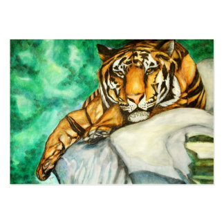 Patience (Tiger) ACEO Art Trading Cards Large Business Card