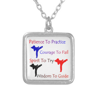 Patience to Practice girls Martial Arts necklace