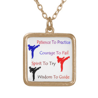 Patience to Practice Martial Arts Necklace gold