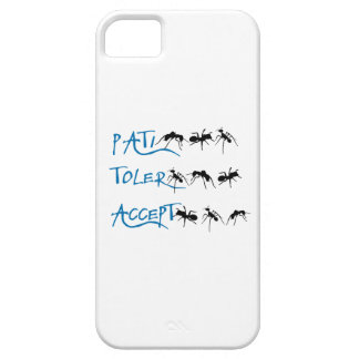 Patience, Tolerance, Acceptance iPhone 5 Cover