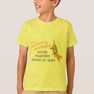 Patience will be Rewarded Kids T-shirt