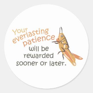 Patience will be Rewarded Sticker