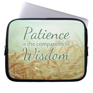 Patience Wisdom Inspirational Quote Laptop Bag