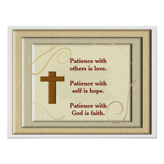 Patience with God -art print