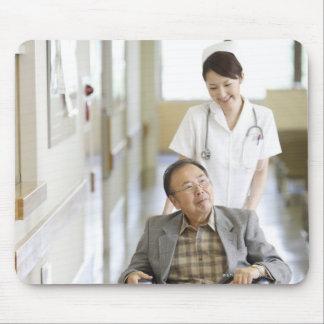 Patient and nurse mouse pad