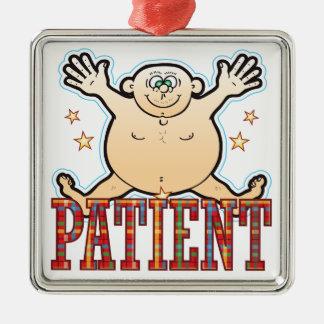 Patient Fat Man Metal Ornament