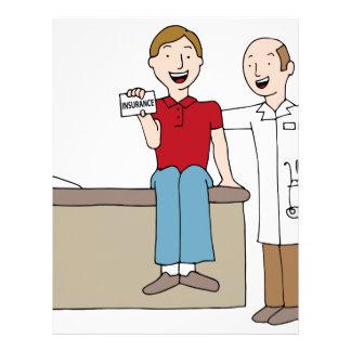 Patient Holding Insurance Card Letterhead