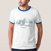 Patient Polar Bear (Faded Sky) T-Shirt