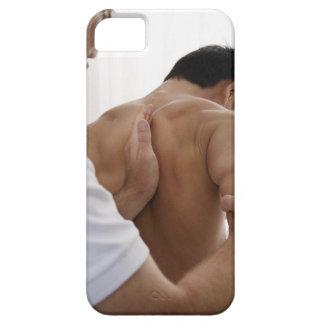 Patient receiving osteopathic treatment iPhone SE/5/5s case