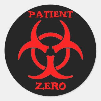 Patient Zero Biohazard Sticker