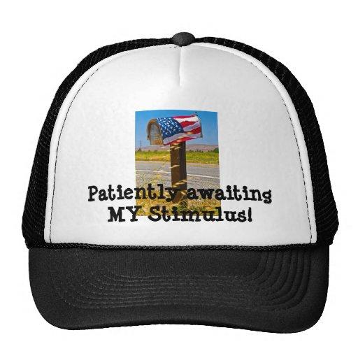 Patiently awaiting MY Stimulus! Trucker Hat