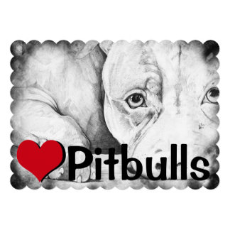 Patiently Waiting heart pitbulls Personalized Announcement