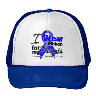 Patients - Colon Cancer Ribbon Mesh Hat