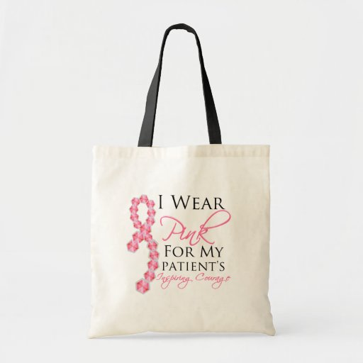 Patient's Inspiring Courage - Breast Cancer Budget Tote Bag