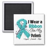 Patients - Ovarian Cancer Ribbon Refrigerator Magnet