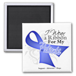 Patients Periwinkle Ribbon - Stomach Cancer 2 Inch Square Magnet