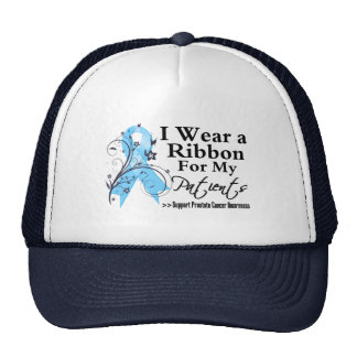 Patients Prostate Cancer Ribbon Mesh Hats